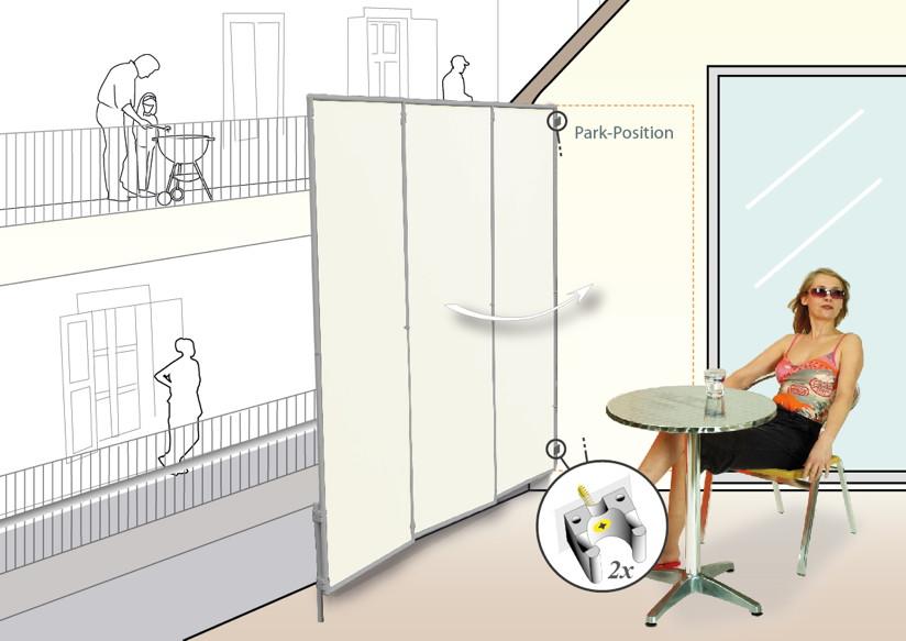 seiten sichtschutz balkon ohne bohren das beste aus wohndesign und m bel inspiration. Black Bedroom Furniture Sets. Home Design Ideas