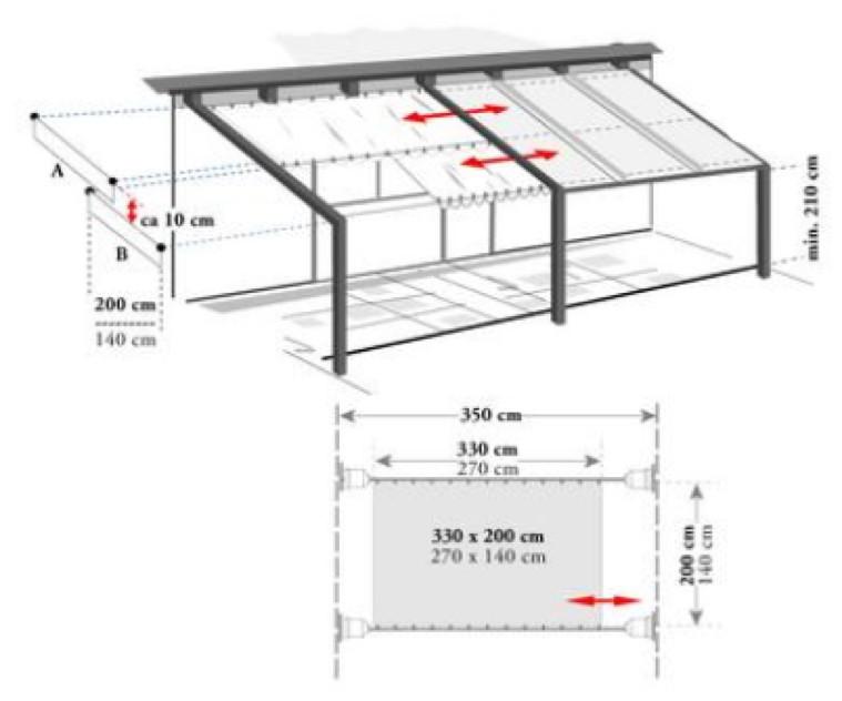 seilspannsystem f r sonnensegel bausatz pergola ohne. Black Bedroom Furniture Sets. Home Design Ideas