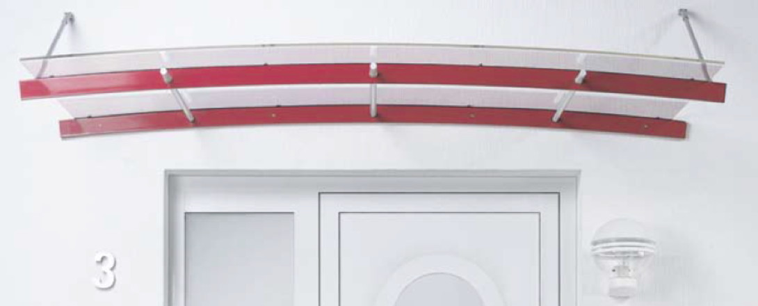 Vordach Versco MA1 Alu Aluminium-Acrylglas-Vordach für Haustüren