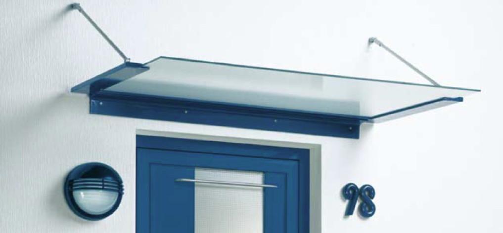 Vordach Versco «MA2» Aluminium VSG Vordach Für Haustüren