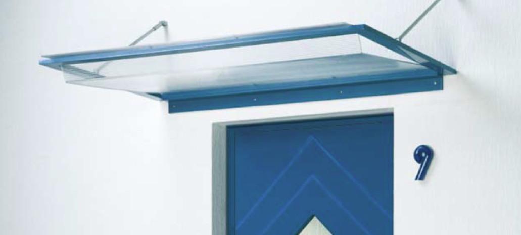 Vordach Versco MA3 Alu Aluminium-Acrylglas-Vordach für Haustüren