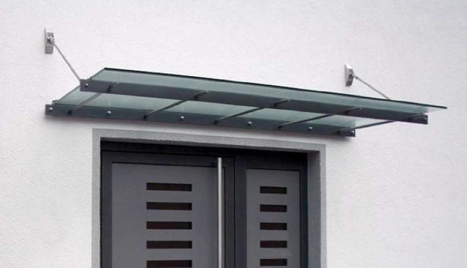 Vordach Versco MA4 Edelstahl Edelstahl-VSG-Vordach für Haustüren