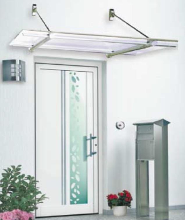Vordach Versco MA5 VSG Aluminium oder Edelstahl Vordach für Haustüren