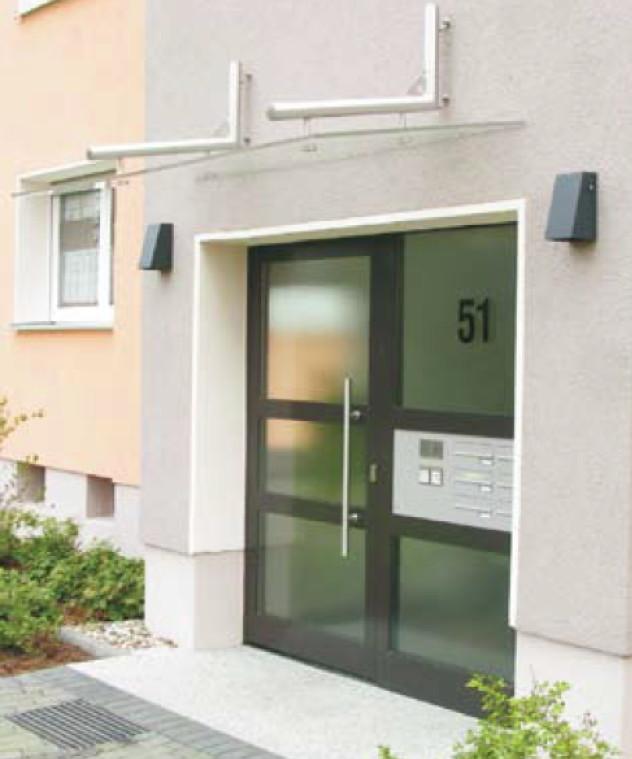 Elegant Vordach Versco «MA6 B1600» Edelstahl Acrylglas Vordach Für Haustüren