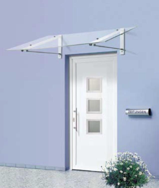 Vordach Versco Pocket Alu Aluminium-Acrylglas-Vordach für Haustüren